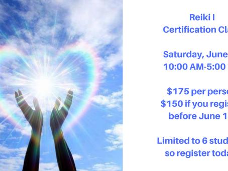 Reiki I Certification Class