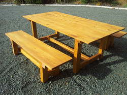 """""""Family"""" Outdoor Table and Benches"""