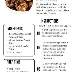 Oatmeal & Chocolate Energy Balls