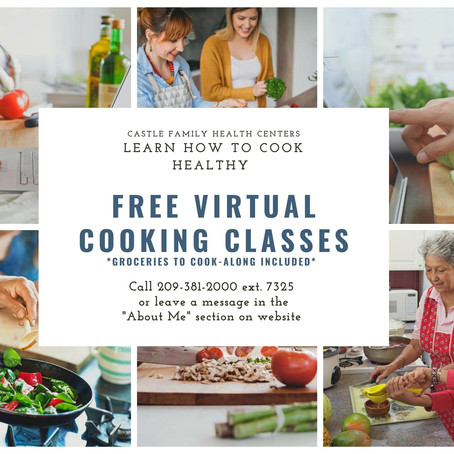 FREE Virtual Cooking Classes!