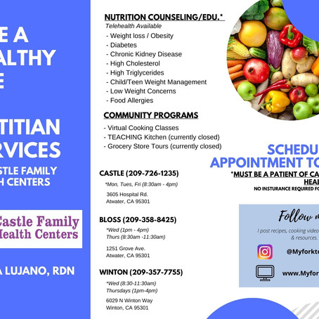 Nutrition Counseling Services @ Castle Family Health Centers