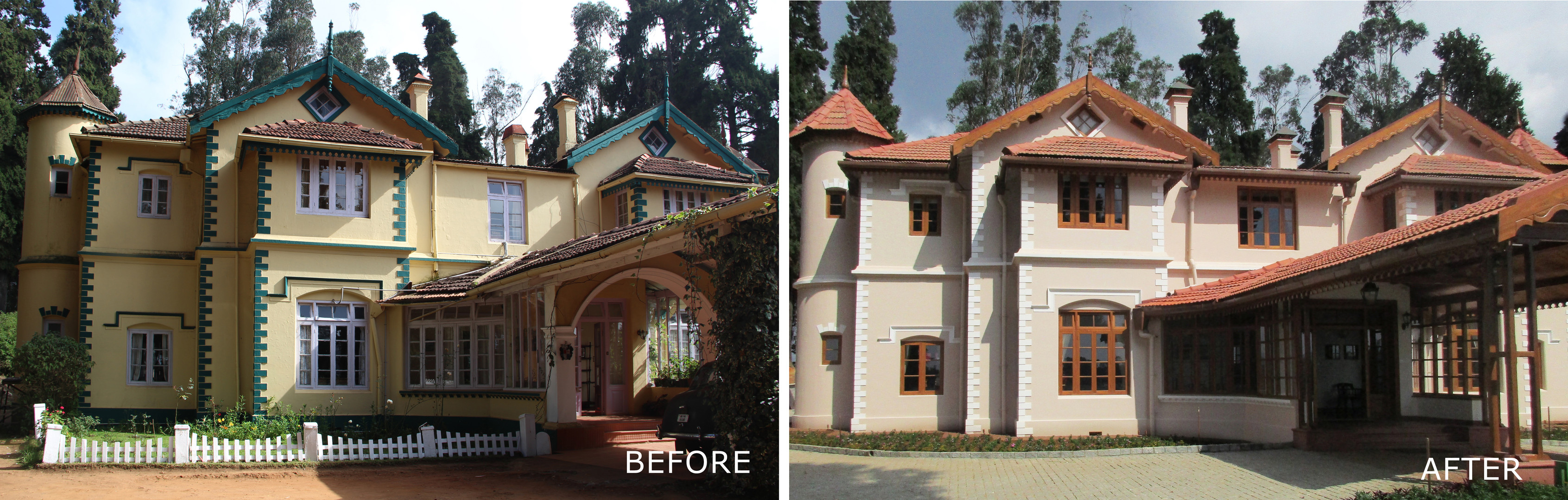 Before and After - Exterior