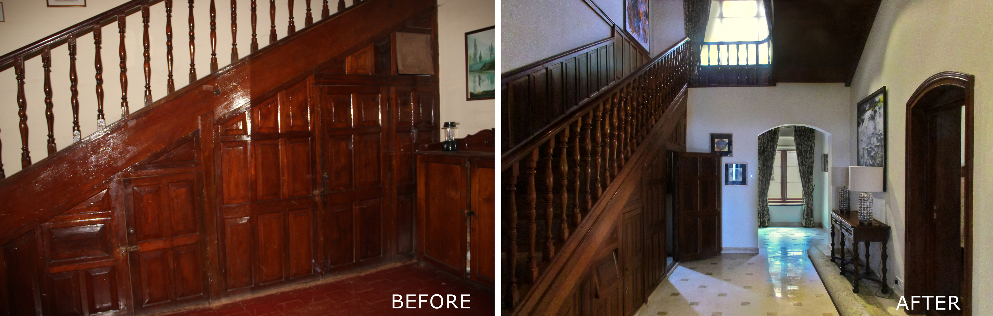 Before and After - Interior Timber Staircase