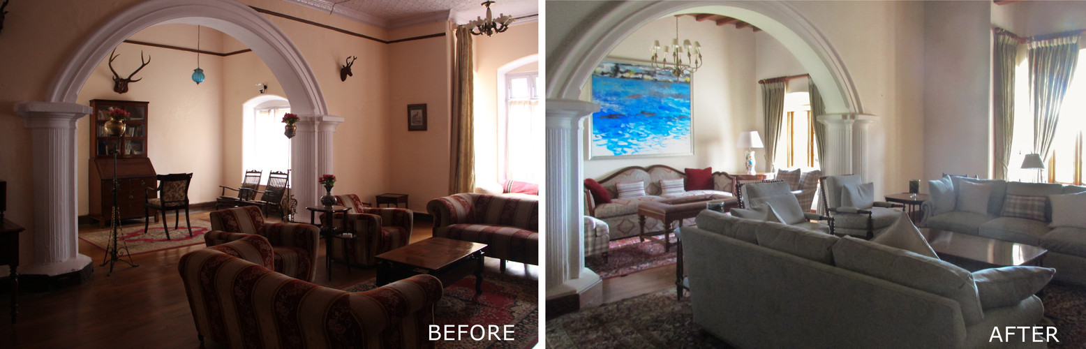 Before and After - Living room Interior