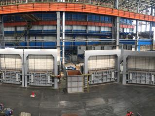Успешно прошла сдача-приемка первых 4 камерных печей на участке КРС предприятия ВСМПО АВИСМА.