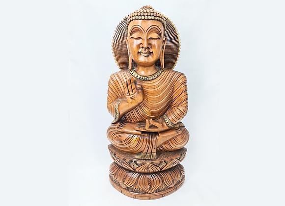 Buda talla madera