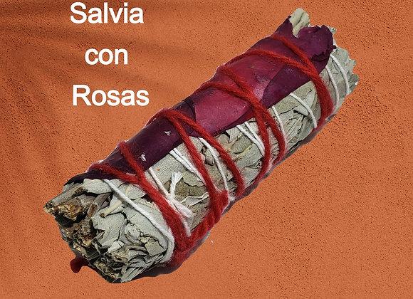 Salvia con Rosas