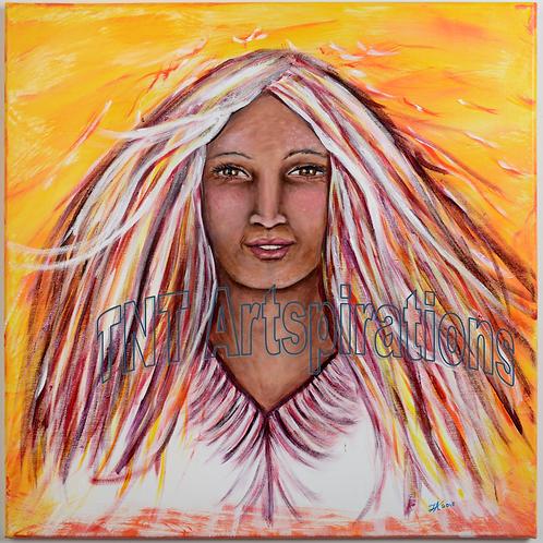 Woman of Fire - Print