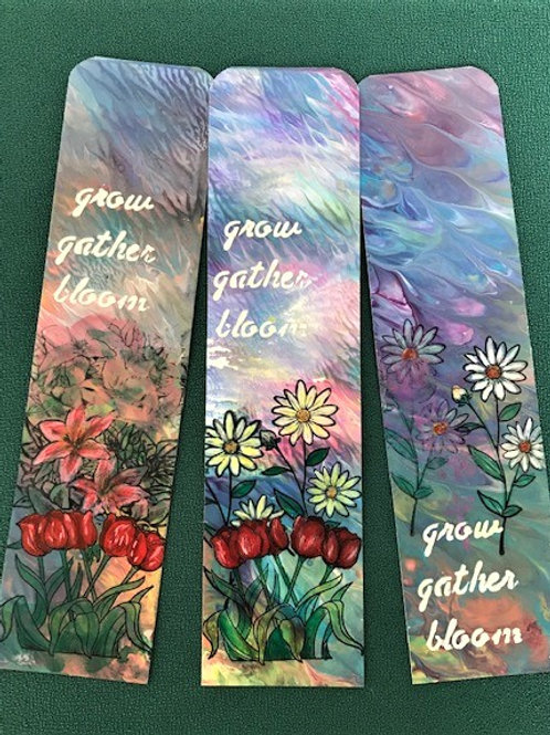 MM Bookmark - Gather, grow, bloom