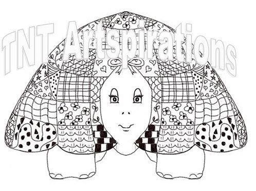 Fancy Turtle Doodled