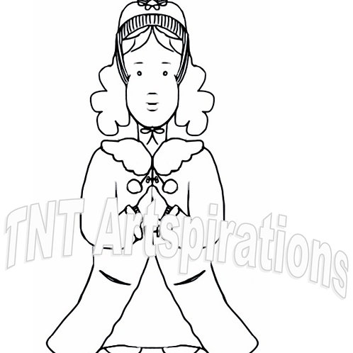Praying Girl - Winter