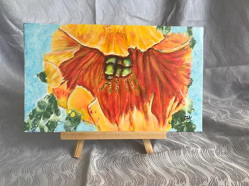 Fire Lily - original acrylic