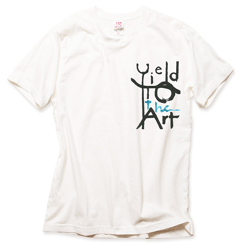 Yield to the Art T-shirt - blue