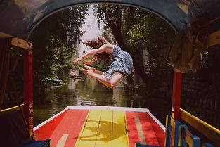 Laura performing a Dance jump