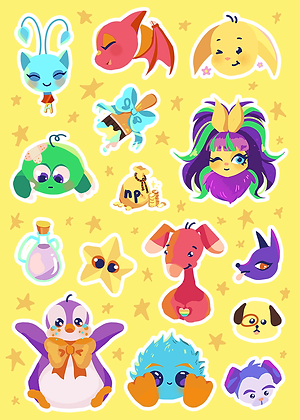 Virtual Pet Sticker Sheet