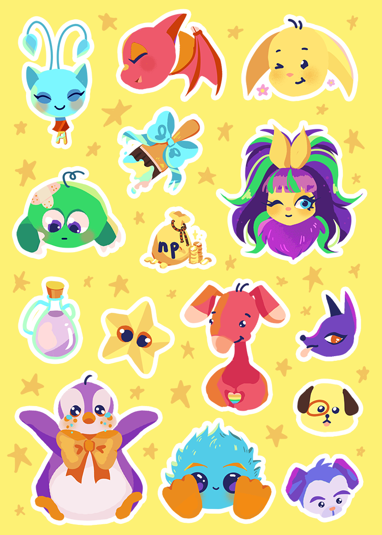 "Virtual Pet Vinyl Sticker Sheet 5"" x 7"""