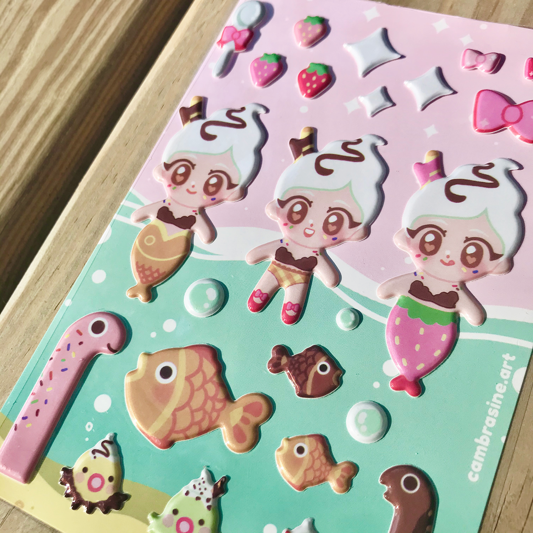 Glossy 3D Sticker Sheet