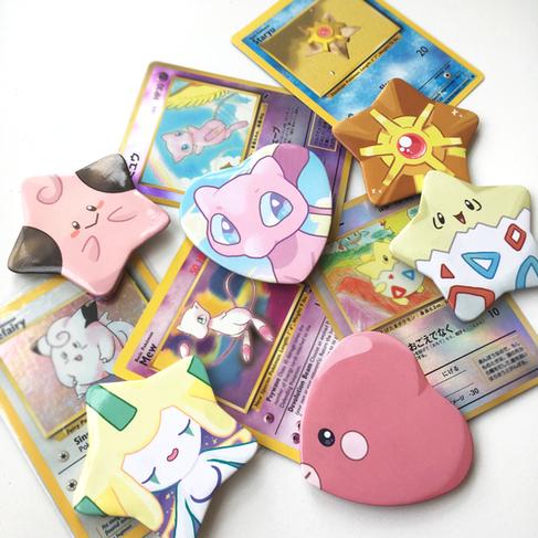Heart + Star Buttons