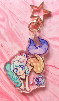 Ice Cream Mermaid Charm