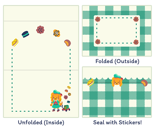 Girl Snouts Seal-and-Send Notecard Set