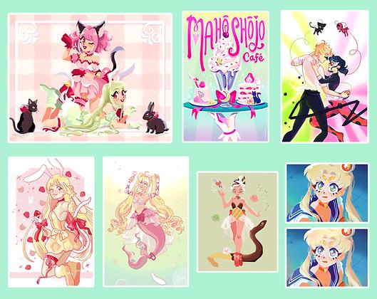 Magical Girl Prints Original+Fandom