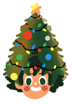 Christmas Deku Sticker