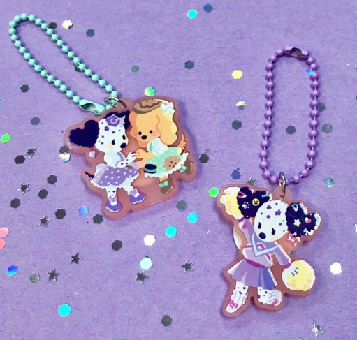 Frosted Acrylic Charms
