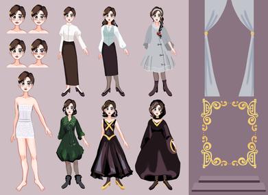 Character Design (Desa, The Silver Falling)