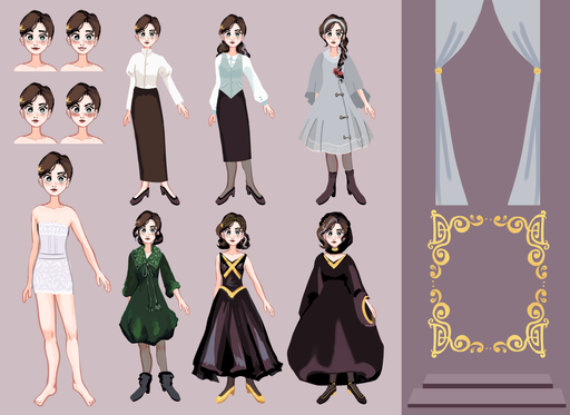 Character Design (Desa, The Silver Falling)