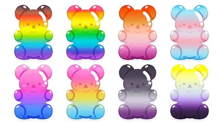 Pride Gummy Bear Acrylic Charm