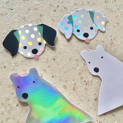 Dalmatian Holo Vinyl Sticker