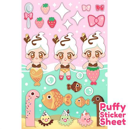 Meru & Friends 3D Puffy Stickers