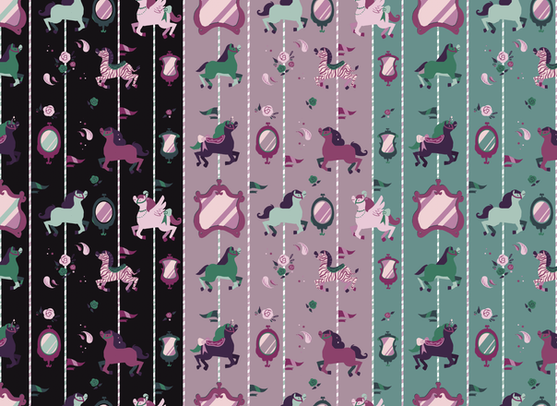 Modern Merry-go-Round Repeat Pattern