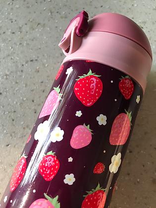 Strawberry Metal Vacuum Bottle
