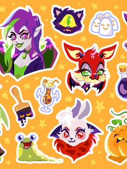 Halloween Virtual Pet Stickers