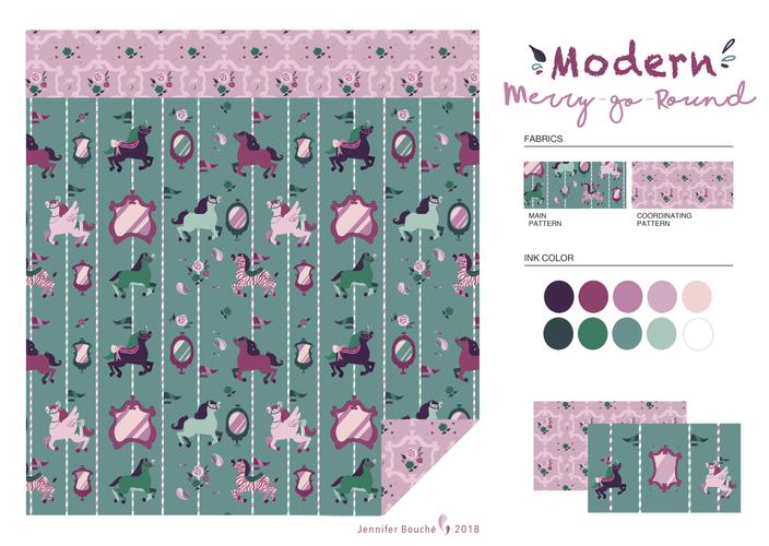 Modern Merry-go-Round Bedding Set