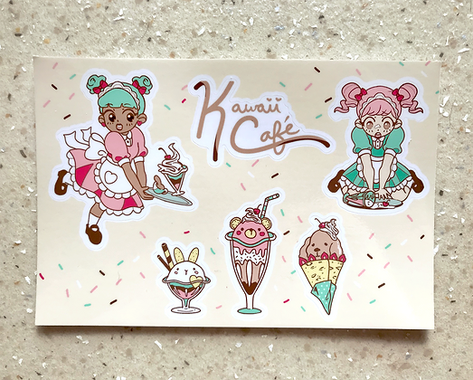 Maid Café Sticker Sheet