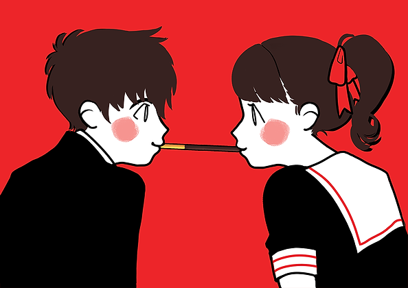 Pocky Game Valentine Card