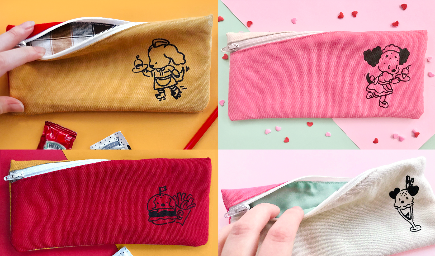 Diner Zipper Pouches