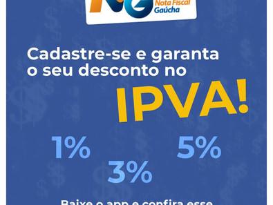 Desconto no IPVA, garanta o seu!