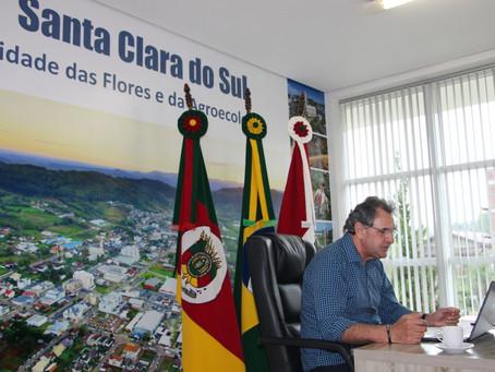 Santa Clara do Sul firma convênio com região peruana para fortalecer produção orgânica