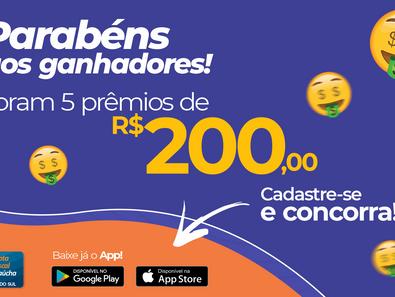Ganhadores do Nota Fiscal Gaúcha de fevereiro