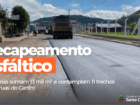 SANTA CLARA DO SUL INICIA RECAPEAMENTO ASFÁLTICO