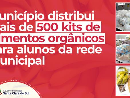Santa Clara do Sul distribui kits de alimentos orgânicos para alunos da rede municipal