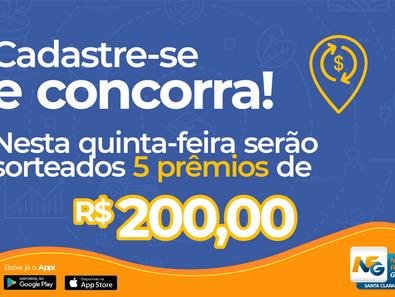 Munícipio sorteia 5 prêmios de R$ 200,00 nesta quinta-feira