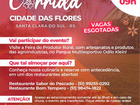 Corrida Cidade das Flores ocorre neste domingo em Santa Clara do Sul