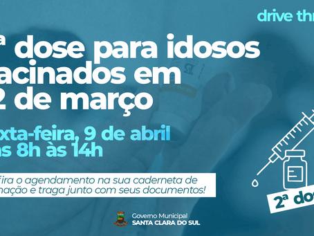 IDOSOS VACINADOS EM 12 DE MARÇO RECEBEM SEGUNDA DOSE NESTA SEXTA-FEIRA