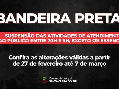 COVID-19: FIQUE ATENTO ÀS RESTRIÇÕES DA BANDEIRA PRETA