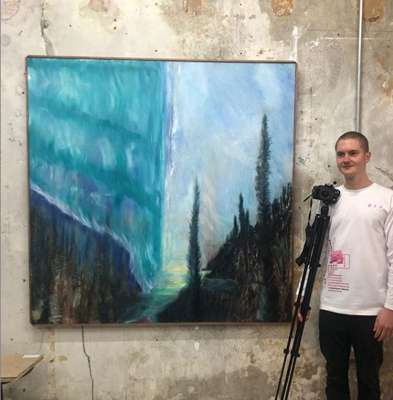 'Thou Shalt Not Litter' - Oil on Canvas 2x2m