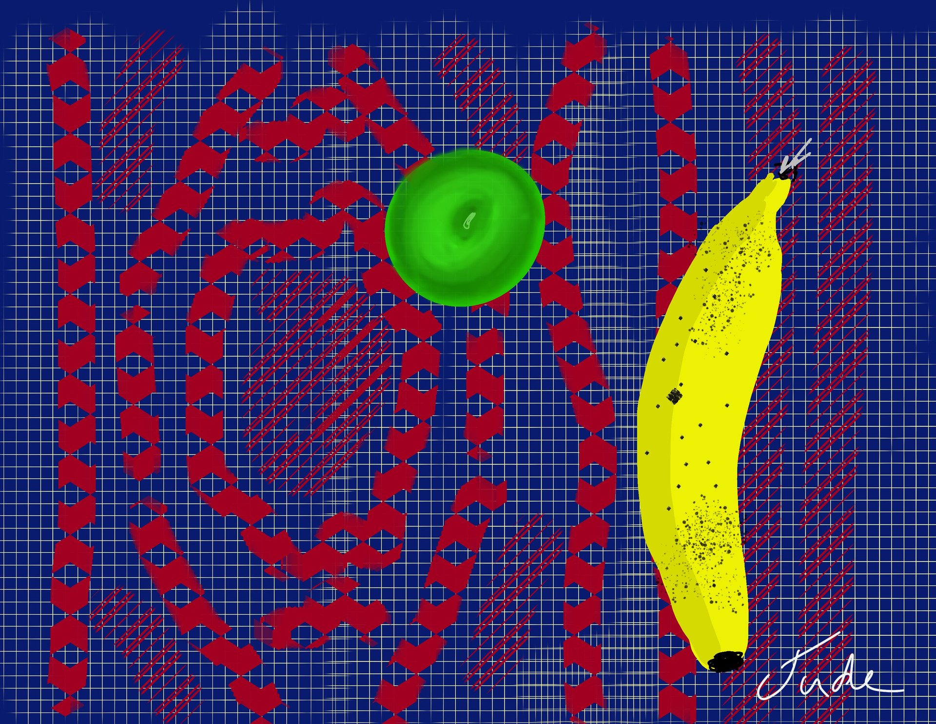 Fruit on a Persian Rug - Stylus on iPad Procreate
